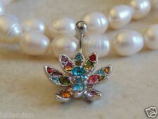 Hinge Banana With Petal Flower Belly/Navel Ring.