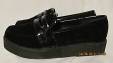 New WANTED brand black oxford shiny top shoes rubber sole 6m ladies nice!