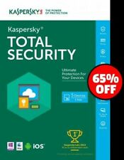 Kaspersky Total Security 5 Devices 2017 |1YEAR | PC/Mac/Android | Only for UK/EU