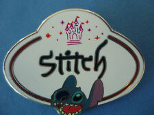 STITCH  Disney Pin  2010  Name Tag HONG KONG EXCLUSIVE  Cute