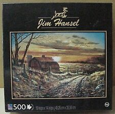 """Sure-Lox 500 pc jigsaw Puzzle called """"Farmstead"""" used 19"""" x 14"""" size, Jim Hansel"""