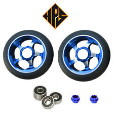 2X PRO STUNT SCOOTER BLUE VORTEX METAL CORE WHEELS 100mm 88A ABEC 9 BEARING 11