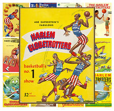 """Mini Posters [13 pages 8""""x11""""/A4] Harlem Globetrotter Basketball Vintage MP530"""