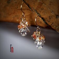 Boucles d`Oreilles Goutte Zirocon Crystal Brillant Grape de Raisin Cadeau