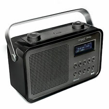 Tangent DAB 2 GO BT in schwarz - Retro Radio portable UKW, DAB/DAB+,BT