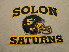 SOLON SATURNS Youth Football Helmet T Shirt Soft Adult size Large FREE Shipping