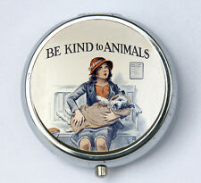 Be Kind To Animals PILL CASE pillbox pill holder animal rights