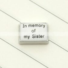 Floating Charms In Meory of  My Sister for Glass Living Memory Locket 1pc New