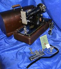 SINGER 99 SEWING MACHINE 1923 BEAUTY SEWS SERVICED QUILTING INDUSTRIAL STRENGTH