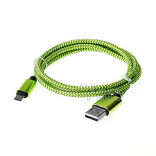 25CM 1M Aluminum Braided Micro USB Fast Quick Charging Charge Data Sync Cable