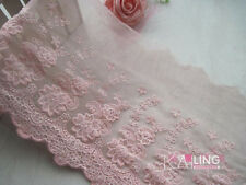22cm,1yard Delicate embroidered flower tulle lace trim Sewing DIY Crafts FL149