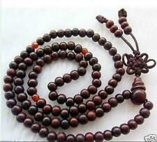 wholesale! hot 8mm Tibetan Buddhist 108 wood Prayer Bead Mala Necklace
