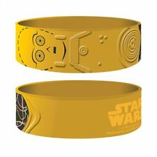 STAR WARS C-3PO RUBBER WRISTBAND TOP QUALITY 100% OFFICIAL NEW