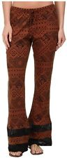 2015 NWT WOMENS ELEMENT TOTEM PANTS $45 M rust black relaxed fit airy fabric