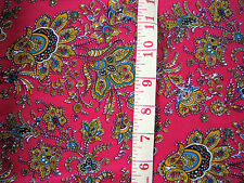"Red  Paisley Soft Drapy Dress Fabric  60""  Wide Crafts Sewing by Metre"