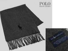 Valentine *MADE IN ITALY* New POLO Ralph Lauren MEN Scarf -GRAY + RL GIFT BOX