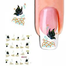 J283 NAGELSTICKER bunte Muster french Style water transfer Fingernagel Nagel Nai