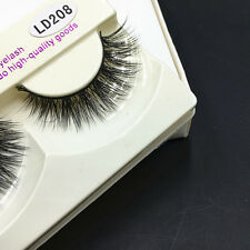 Real Mink Natural Long Black Eye Lashes Fake False Eyelashes Extension 1Pair Hot