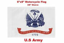 "Pro Pad Motorcycle Flag 6""x9"" U.S. Army Flag Fits 3/8"" Flag Poles Military"