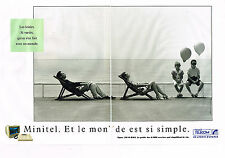 PUBLICITE ADVERTISING 014   1989   FRANCE TELECOM    MINITEL   (2 pages)