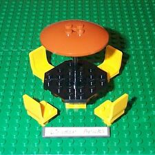 Lego Seats Yellow Chairs Table Umbrella Dish 3181 7641 Bus