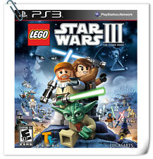 PS3 SONY PLAYSTATION LEGO Star Wars III Action Warner Home Video Games