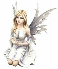Large Winter Solstice Purity Fairy With Crystal Sphere Statue Figurine Goddess