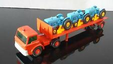 1968~NM~MATCHBOX/Lesney/Moko #K20-1 FORD TRACTOR TRANSPORTER w 3 FORD TRACTORS
