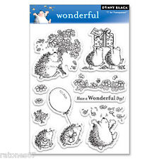 New Penny Black WONDERFUL Clear Stamp Happy Birthday Flowers Present Balloon