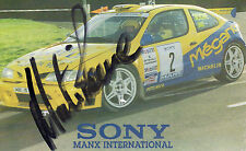 MARTIN ROWE AUTOGRAPHED PHOTO RALLY CARS MOTOR SPORT