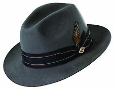 STACY ADAMS SALE * GREY WOOL FEDORA HAT * M L XL * NEW MEN DRESS LINED GODFATHER