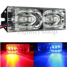 12V LED Motorcycle Warning Brake Tail Stop Strobe Flash Emergency Light Red/Blue