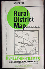 Vintage Barnett, Rural District Fold up Map, Henley-on-Thames,from the 1960s-70s