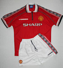 Manchester United Home Football Kit (Shirt + Shorts) 1998 - 2000 Vintage size L