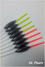 5x `DL` HAND MADE POLE FLOATS `Slims`0.4g Yellow Tips