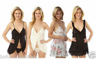 Ladies Babydoll Slip Chemise Nighty Size 6 8 10 12 14 16 18 20 NEW
