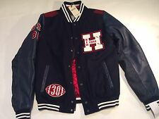 Tommy Hilfiger 30 Th Leather Jacket  Men's  Varsity Bomber M 90s New RRP £ 295
