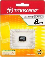 Transcend MicroSDHC Card 8GB microSD 8 GB micro SD Mobile Memory Card Original