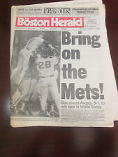 NEW YORK METS- VS. BOSTON RED SOX -1986 WORLD SERIES -PRELUDE HEADLINES-10/16/86