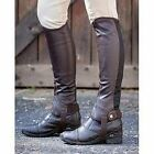 Brand New Dublin Flexi Leather Half Chaps - Adults, Black OR Brown