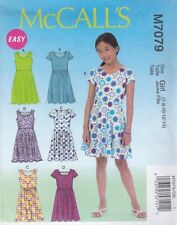 McCall's Sewing Pattern GIRLS PULLOVER DRESSES SKIRT VARIATIONS 7 - 14 M7079