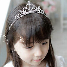 CHIC Rhinestone Tiara Hair Band Kid Girl Bridal Princess Prom Crown Headband