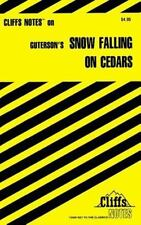 Cliffs Notes on Guterson's Snow Falling on Cedars-ExLibrary