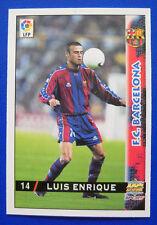 CARD FUTBOL LFP - LAS FICHAS DE LA LIGA 98-99 - N. 14 - LUIS ENRIQUE - BARCELONA