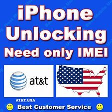 iPhone 4 4S AT&T USA Factory Unlocking Clean IMEI & Out of Contract ONLY
