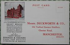 Early 1900s Duckworth & Co Distillery Old Trafford Manchester Vintage Postcard