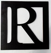 Beautiful Personalized initials any Letter 12in x 12in  wooden sign