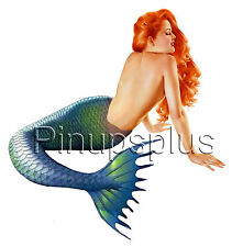Sexy Mermaid Pinup Waterslide Decal /Sticker Guitar Retro Rockabilly Style  S252