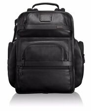 "NEW Tumi ALPHA2 T-Pass 96578D2 BLACK Leather Business Brief Backpack 15"" Laptop"