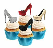 Ladies Glamorous Shoes Collection 12 Edible Stand Up wafer paper cake toppers